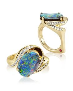 A new Boulder Opal ring for the JCK Awards!