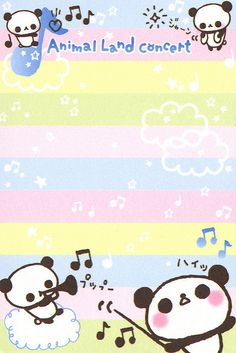 "San-X ""Animal Land Concert"" Mini Memo (Sheet) (2) | crazysugarbunny | Flickr"