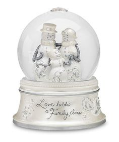 Take a look at this 'Love Holds a Family' Snow Globe by Festive Holiday on #zulily today!