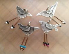 BIRD necklace Soaring... sterling silver copper brass by RonePrinz