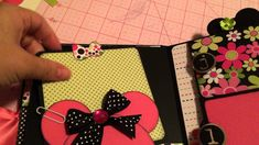 such an adorable Minnie Mouse album in non traditional colors