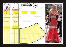 Modelagem do vestido de Lindsay Lohan. Fonte: https://www.facebook.com/photo.php?fbid=558470480855528=a.426468314055746.87238.422942631074981=1