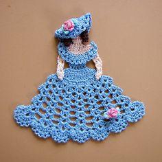 Crochet Dolls Design PDF Crochet Pattern Dainty Little Doilies 13 different Cotton Crochet, Thread Crochet, Crochet Crafts, Crochet Dolls, Crochet Stitches, Crochet Baby, Crochet Projects, Knit Crochet, Filet Crochet