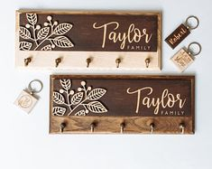Last Family Name Established Sign Laser Cut Name Wooden Sign Key Holder For Wall Key Rack Hook Entryway Wall Organizer Roommate Gift Decor 16th Birthday Gifts, Birthday Gifts For Teens, Birthday Gifts For Girlfriend, Teen Birthday, Boyfriend Birthday, Family Name Established, Fall Mountain Wedding, Moss Decor, Gravure Laser
