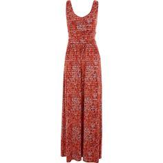 """Cynthia Rowley"" Orange Geometric Maxi Dress - TK Maxx"