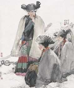 He Jiaying LADY OF DALIANGSHAN. 何家英 大涼山的女人