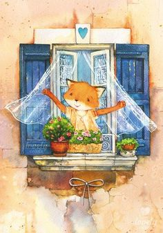Скрапбукинг, рукоделие, Картинки с милыми лисичками