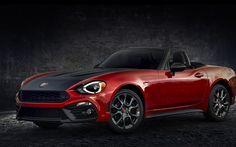 Scarica sfondi Fiat 124 Spider Abarth, roadster, 2017 auto, auto italiane, Fiat