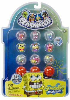 Squinkies SpongeBob Squarepants Series #2 (12 Squinkies) by Blip Toys. $14.50. Grab your favorite Squinkies and battler. Roll the dice(NOT INCLUDED) for super attacks. But don't let your crew get knocked out or you lose!. Includes 12 Squinkies, 12 containers.. Collect them all!. Feel hungry for some Squinkies actions? Look no further, Squinkies' fans. Check out this Squinkies Gift Pack!. Squinkies hits another home run to present this gift pack that comes with 12 Squinkies.. ... All Toys, Kids Toys, Pokemon Cupcakes, Lego Spongebob, Educational Toys For Preschoolers, Moose Toys, Spongebob Squarepants, Cool Gadgets, Miraculous Ladybug