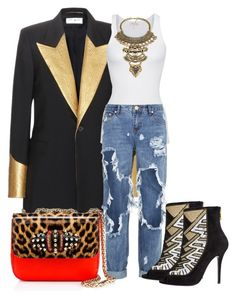 """""""Untitled #513"""" by piinkdreamss on Polyvore featuring Yves Saint Laurent, American Vintage, One Teaspoon, Christian Louboutin, women's clothing, women's fashion, women, female, woman and misses"""