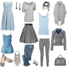 Blue and gray Diy Fashion, Fashion Outfits, Womens Fashion, Colourful Outfits, Fall Outfits, Sewing, Chic, Grey, Casual