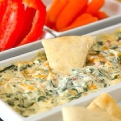 Yummy 4 cheese spinach dip