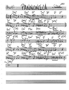 [Jazz Real Book II : Page Pannonica (Thelonious Monk) - Jazz Standard Sheet Music Music Theory Guitar, Jazz Guitar, Jazz Songs, Jazz Standard, Thelonious Monk, Sheet Music, Music Sheets, Partitions, Feelings