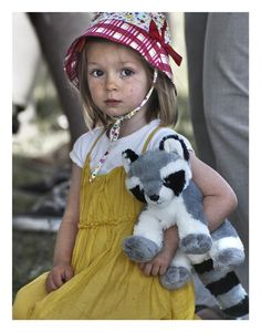 Adorable....love the softness with bright pops of color and her sweet, serious little face.