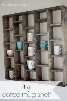 Tremendously Cool DIY Coffee Mug Rack Ideas DIY Coffee Mug Shelf on Delicate Construction