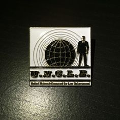 Vintage Man From U.N.C.L.E. Enamel Pin