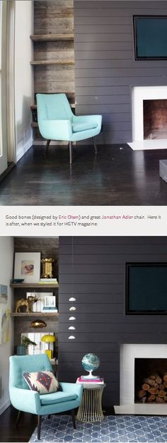 1000 Images About Hgtv Before And After On Pinterest The High Living Room Shelving And