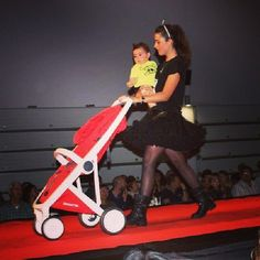 Parading the catwalk at V Fashion Gala, thanks to our friends at MOM. #stroller #fashion #greentom #catwalk
