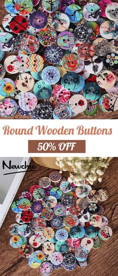 SOFO 100 Pcs Round Wooden Decoration Sewing Buttons DIY Materials is hot sale on Newchic. Hobbies And Crafts, Diy And Crafts, Arts And Crafts, Button Art, Button Crafts, Sewing Hacks, Sewing Projects, Craft Projects, Diy Buttons