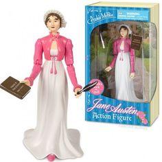 Na Barbie en Action Man nu ook Jane Austen als actiefiguur.