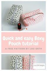 How to make a simple and quick boxy pouch. Free sewing pattern. SImple and quick sewing project. Makes a great gift #sewing #freesewingpattern #simplesewing Sewing Patterns Free, Sewing Tutorials, Free Pattern, Cork Fabric, Lining Fabric, Love Sewing, Sewing Diy, Modern Sewing Projects, Pouch Pattern