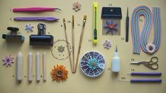 Hi folks, These are the basic tools required for quill work. If you want to know in detail, please go through Quilling Tools . Quilling Jewelry, Quilling Paper Craft, Quilling Instructions, Paper Quilling Tutorial, Diy Paper, Paper Art, Paper Crafts, Origami Paper, Quilling Patterns