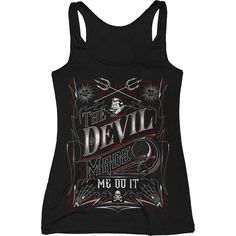 Inked Boutique -  The Devil Made Me Do It Tank Top Lettering www.inkedboutique.com
