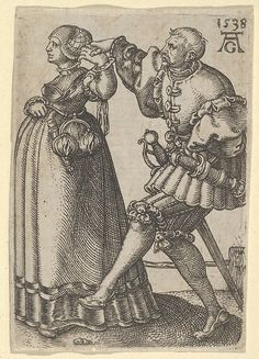 Dancing Couple, with the Male Figure Mid-Step, from The Small Wedding Dancers