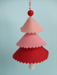 Three-tiered Felt Christmas Tree