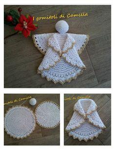 Crochet Christmas Decorations, Crochet Christmas Trees, Crochet Christmas Ornaments, Crochet Decoration, Christmas Crochet Patterns, Crochet Snowflakes, Holiday Crochet, Christmas Knitting, Christmas Angels