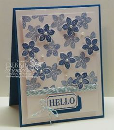 Colour Me...! Challenge #1 using Stampin' Up! Petite Petals Stamp Set. Debbie Henderson, Debbie's Designs