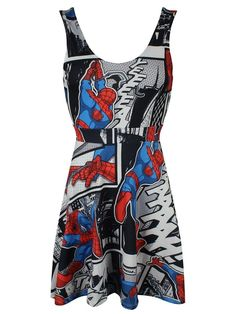 Spider-Man Comic Strip Dress multicolour: Amazon.co.uk: Clothing