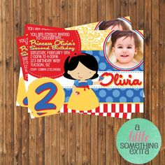 Snow White Invitation Snow White Birthday by SomethingExtraShop, $9.50