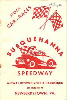 1956 Susquehanna Speedway Stock Car Race Program Coca Cola Advertising Results   eBay