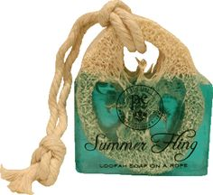 Summer Fling Perfumed Loofah On A Rope - Individually Wrapped