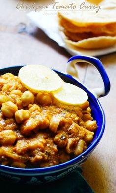 Chickpea Tomato Curry Recipe. Chole or chickpeas is quite a regular fare at home. This masala is quite often made as compared to the other variations which o...
