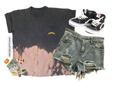 """Nasty human being..."" by comaxblack ❤ liked on Polyvore featuring Vans"