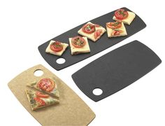Serve flat breads, pizzas, appetizers, sliced breads, & much more on these serving and display boards. You can bake on these & take them directly from the oven to a table. The hole is helpful for servers.