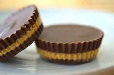 Homemade Peanut Butter Cups - 4 ingredients; no perservatives. Sounds really good + simple!