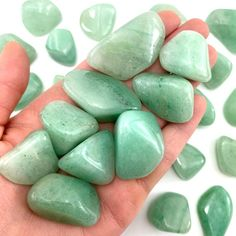 Chakra Crystals, Tumbled Stones, Green Aventurine, Little Gifts, Recovery, Calm, Stock Photos, Heart, Minerals