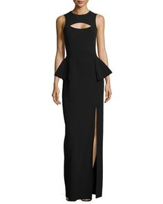 Crepe Cutout Peplum Gown by Michael Kors at Neiman Marcus.