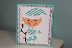Inside step Christmas card front - Jolly Holidays Cricut Cartridge
