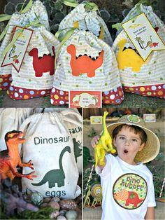Dino favor bags