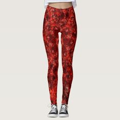 Red Black and Maroon Leggings - red gifts color style cyo diy personalize unique