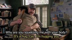 From now on, all hugs shall be called body squeezes.