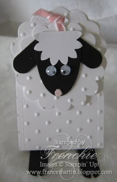 Stamp and Scrap with Frenchie: Little Lamb to Hold Hershey's Nuggets