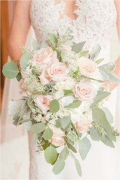 beautiful floral bouquet with eucalyptus