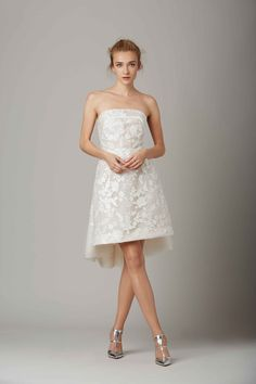 """""""The Pied-à-Terre"""" short, strapless dress by Lela Rose 