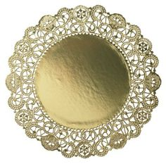 """Hoffmaster GO905SP Brooklace Gold Foil Round Lace Doily, 5"""" Diameter (Case of 500) by Hoffmaster. $27.35. Hoffmaster Brooklace gold foil round lace doily.  5-inches diameter.. Save 37%!"""