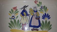 ***SOLD*****$12--Vintage Faience d'Art Regional Decor Breton KG France Casserole Dish Au Gratin Dish Serving Dish Quimper Style by JunkYardBlonde on Etsy
